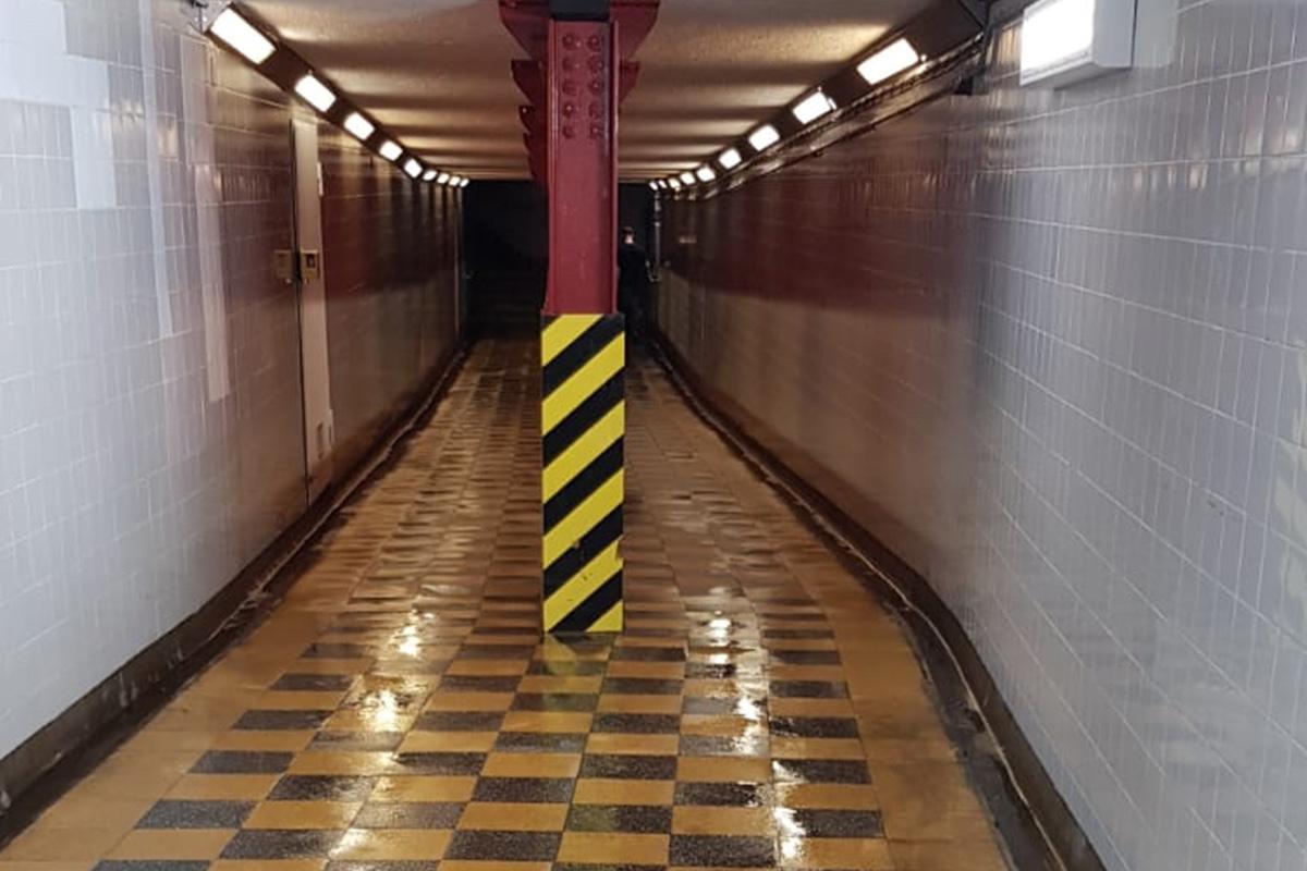 Steam Cleaning Blackfriars Pedestrian Subway