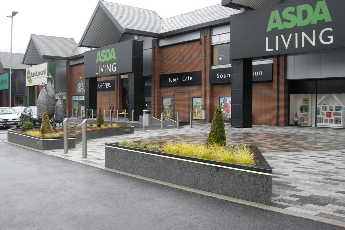 Pave-Saver Pavement Coating Protects Retail Park