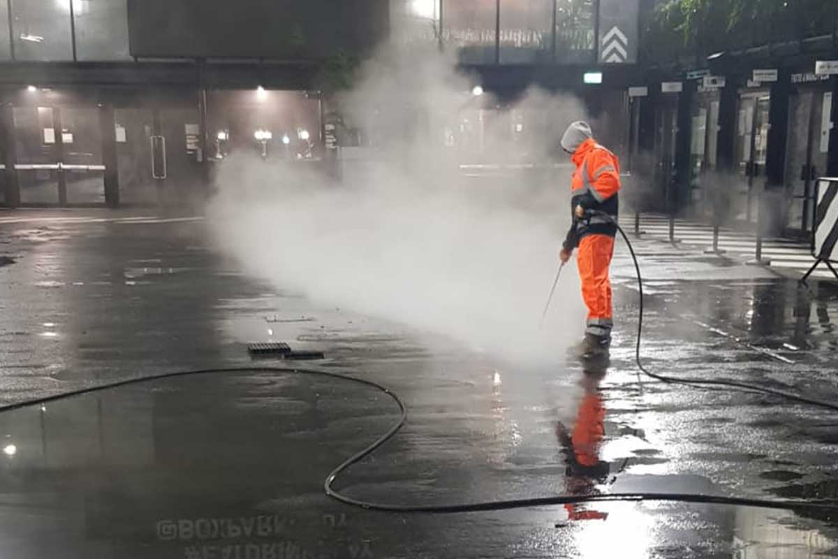 Cleaning and Chewing Gum Removal Operations at BOXPARK